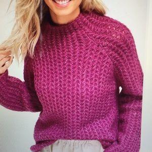 BNWT Listicle Plum Mock Turtleneck Sweater Small